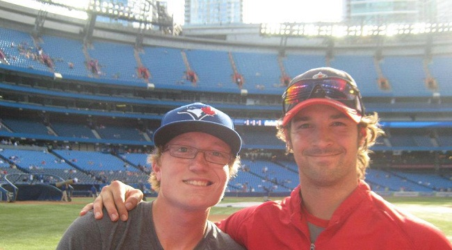 C.J Wilson and I in 2012