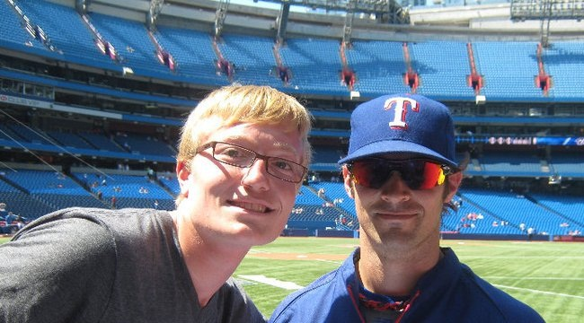 C.J Wilson and I in 2011