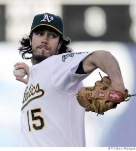 Dan Haren may be long gone from Oakland but he's still paying dividends for the A's.