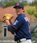 Right-handed pitcher was selected from the Twins' farm system by the A's during the minor league phase of the Rule 5 draft on the last day of the winter meetings.
