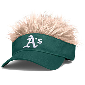 If a visor with hair shows up in my Christmas stocking I will not be a very happy A's fan.