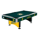 You know what would look fantastic on Christmas morning? This A's pool table.