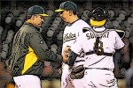 Nothing would capture the sorry state of the Bob Geren Era in Oakland more than a tattoo of Geren and Brian Fuentes not seeing eye to eye.