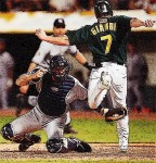 Jeremy Giambi getting thrown out by Derek Jeter is burned into my mind as a horrible moment in A's history which easily makes it a top tortured tattoo choice.