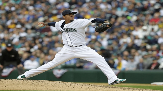 Felix Hernandez struck out 10 in 7 innings on the way to his first win of the year.
