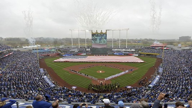 The AL Champions start their 2015 season off at Kauffman Stadium.