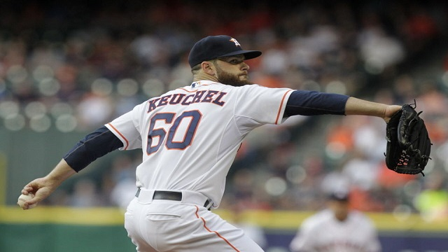 Dallas Keuchel threw seven shutout innings in the 2-0 win.