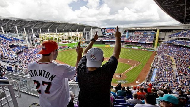 Marlins fans welcome back baseball in Miami.