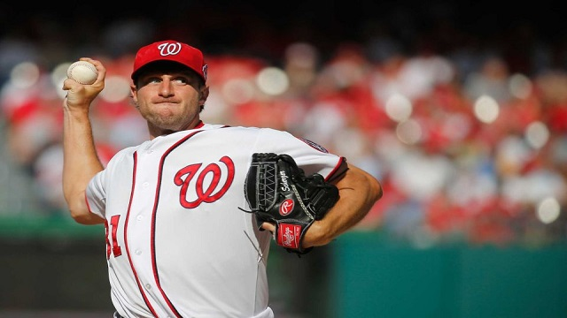 Max Scherzer gave up three unearned runs in his Nationals debut.