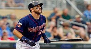 Aug 21, 2014; Minneapolis, MN, USA; Minnesota Twins third baseman <a rel=