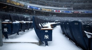 Yankee Stadium in Snow
