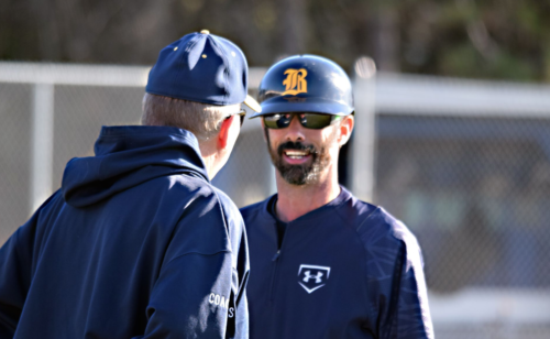 Coach George Ross (left) and Coach Chris LaValle (right). Photo by Beth Anne Gordley.