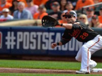 Steve Pearce will bring a strong bat against left handers in 2017.